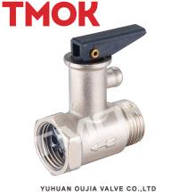 Banco de prueba de gas de latón de la caldera de termopar del cilindro del lpg válvula de seguridad del calentador de agua termal