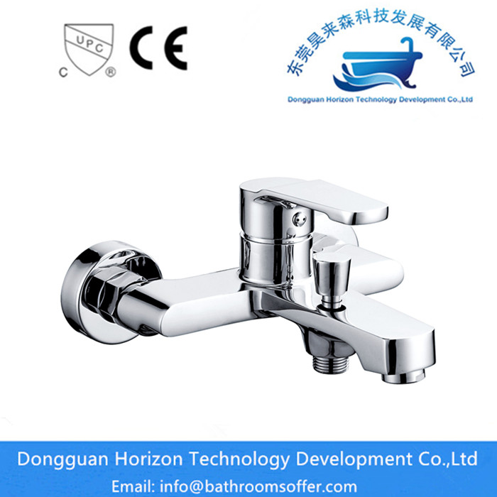 Single Handle Wall Mounted Brass Bathtub Faucet