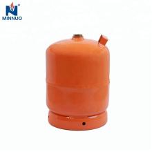 Yemen 5 kg tanque de propano cilindro con válvula