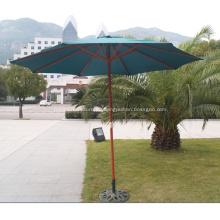 Paraguas de madera redondo 3M jardín de estilo clásico