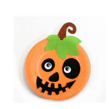 Kids DIY halloween craft own felt fabric bulk paper plate