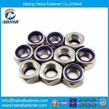 Melhor Preço Stock DIN985 Aço Inox Hex Nylon Insert Nuts