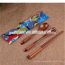 conjunto de tenedor de cuchara de madera personalizados palillos