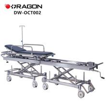Nuevo diseño DW-CT002 CE y ISO aprobó la transferencia manual del hospital que conecta la carretilla del paciente