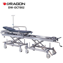 New Design DW-CT002 CE&ISO Approved Hospital Manual Transfer Connecting Patient Trolley