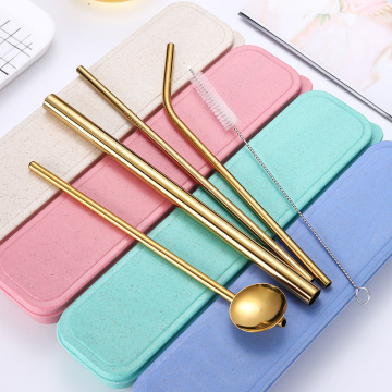 Reusable Straw Logo Kustom Minum Boba Straw Set
