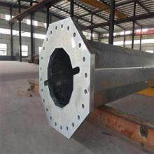 China New Product for Hot Dip Galvanized Pole Single circuit Octagonal steel Electric poles supply to Ethiopia Factories