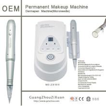 2 в 1 Функция Перманентный макияж и машина для лечения микроигл
