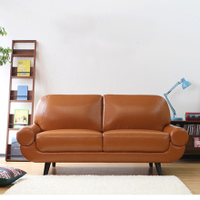 Chesterfield Leather Upholstered Loveseat Armrest Sofa