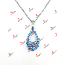 Custom Alloy Tear Drop Crystal Charms Pendant Jewelry Necklace (DAL60128)