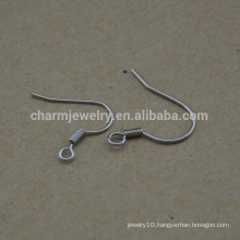 BXG022 Stainless Steel Ear Wires Coil Fishhook , Earring Hooks, Nickel Free earring findings for Jewelry-Making