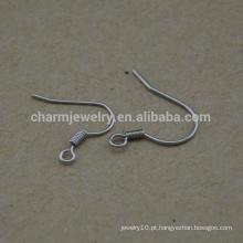 BXG022 fios de arame de aço inoxidável bobina anzol, ganchos de brinco, níquel descobertas brinco livre para Jóias-Making