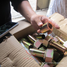 Стандартные и нестандартные оцинкованная углеродистая сталь газовый шланг фитинги