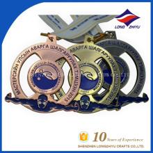 Medalha comemorativa de medalha de ouro customizada de baixo preço LZY