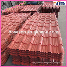 top roof building material color painting steel corrugated sheets