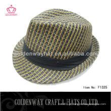 Chapéus de palha Fedora de moda para decorar