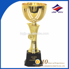 Promotional high quality custom metal trophy cups sport trophies