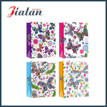 Natural Series Colorful Butterfly 4c Printed Retail Paper Garments Bag