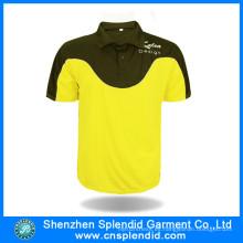 Camisas de polo de deportes de dos tonos de moda de desgaste deportivo personalizado