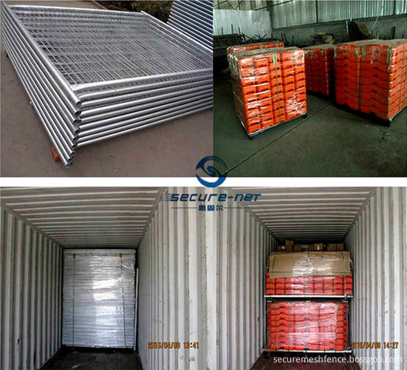 temporary metal fence panel packaging&shipping