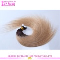 Extensão de cabelo de fita de cor gradiente virgem brasileira reta