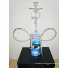 GH062-LT borosilicate glass hookahs shisha/nargile/water pipe/with led light/sheesha/narguile