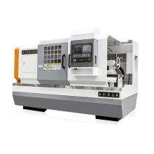 Máquina de torno CNC de cama plana horizontal de metal