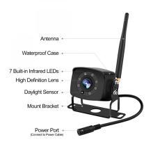 Sistema de câmera de visão traseira reversor de auxílio de câmera digital sem fio de 5 polegadas e kit de monitor