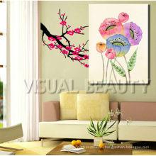Картина маслом холстины оптовой продажи флористическая для гостиной