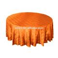 Tafetá pintuck toalha de mesa para banquete