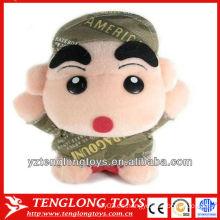 La venta caliente 2014 rellenó los juguetes de los niños muñeca del juguete de la felpa con un sombrero