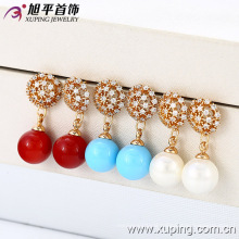 (28291)Xuping New Fashion 18K Gold Pearl Drop Earring Jewelry