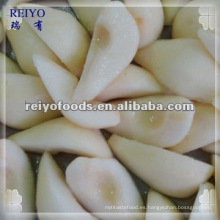 Conservas de pera en almíbar