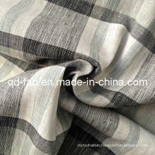 100%Linen Yarn Dyed Fabric (QF13-0758)