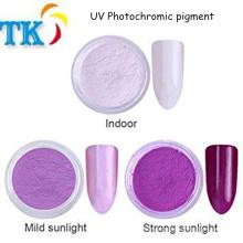 Polvo sensible a la luz para el cambio de color Sun UV fotocromático pigmento para recubrimiento, esmalte de uñas