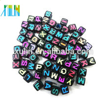plastic beads big hole beads cube beads wholesale