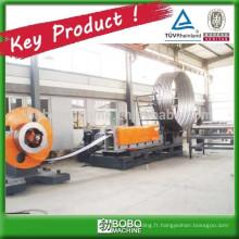 Machine de fabrication de tubes à ponceaux en acier inoxydable en spirale