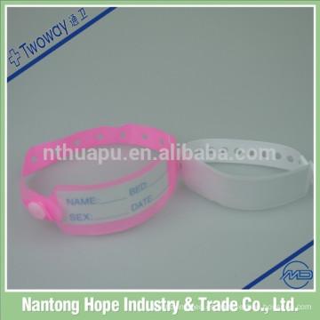 pulseras para identificación médica bebé