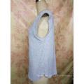 Fashion Bamboo Cotton V Neck Custom Wholesale Girl′s T Shirt