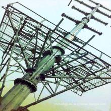 220kv Transmisión de potencia de una sola columna de acero Torre de acero