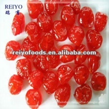 Dried red cherry with sugar