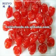 Cereja vermelha seca com açúcar
