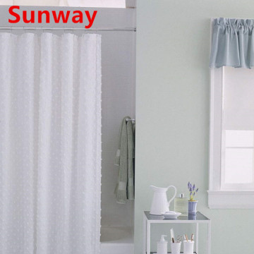 White+Fabric+Shower+Curtain