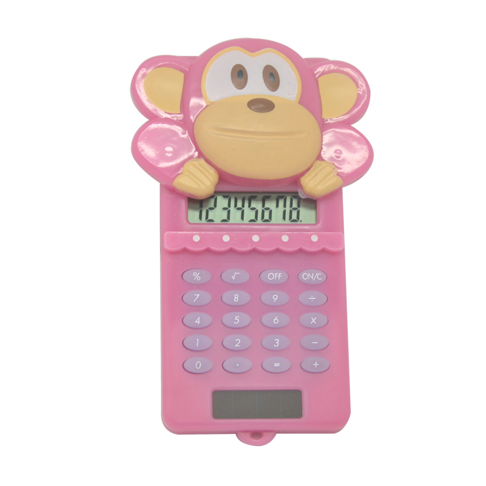 Cute Cartoon Monkey Shaped Pocket Calculator для детей, используя