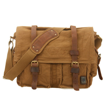 Aangepaste Crossbody Messenger Laptop Canvas schoudertassen Heren