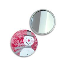 Presente de promoção de metal 58 mm para Lady Cosmetic Mirror Travel Mirror