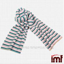 100% innerer mongolischer Kaschmir-Schal gestrickte Streifen für Kinder oder Erwachsene