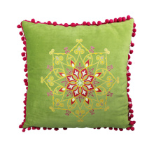 India and Pakistan style of light green cushion