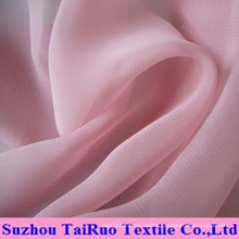 Polyester Chiffon with Stock for Garment Fabric
