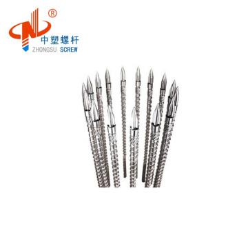 China plastic injection machine bimetallic single screw barrel